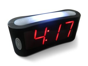 digital bedside clock large display