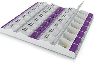 PillzRx monthly pill box dispeser and organizer arthritis friendly