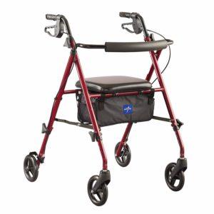 medline ultra light walker with seat